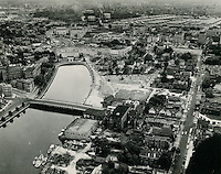 UNDATED..1940s or 50s..Redevelopment.Atlantic City (R-1)..View looking East.Botetourt St bridge.Chrysler Museum.Young Terrace in distance..VU Photos.NEG#.NRHA# 330..