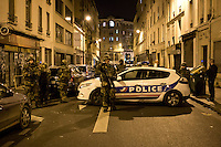 FRANCE, Paris: French army is securing the area near the Bataclan and prevent people to have acces to some streets near the area where attacks happened.