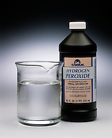 HYDROGEN PEROXIDE: BEAKER &amp; DRUGSTORE BOTTLE<br /> Hydrogen Peroxide Is A Common Oxidizing Agent.