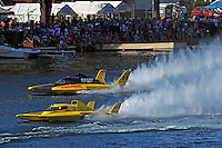 """Jerry Hopp, GP-15 """"Happy Go Lucky"""" and Cal Phipps, GP-18 (Grand Prix Hydroplane(s)"""