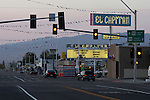 U.S. Highway 95 in Hawthorne, Nevdada: The El Capitan Casino has been a landmark in Hawthorne for many years.