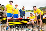 The Senior Mens race was won by the Crew of the Meitheal from Callinafercy on its first outing pictured here l-r; Cian O'Sullivan, Aaron Houlihan, Mike Scannell(Cox), Colin O'Meara & Zach Buckley.  Portmagee finished in second with Callinafercy's second boat taking third place.