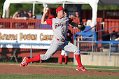 Williamsport Crosscutters pitcher Julian Sampson (37) during a game vs the Batavia Muckdogs at Dwyer Stadium in Batavia, New York July 25, 2010.   Batavia defeated Williamsport 8-1.  Photo By Mike Janes/Four Seam Images