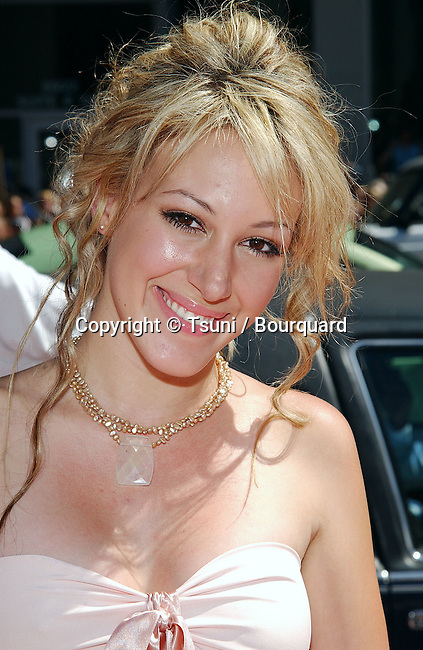 Haylie Duff arriving at a Cinderella Story Premiere at the Chinese Theatre in Los Angeles. July 10, 2004