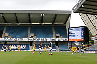 General view of the action during Millwall vs Swansea City, Sky Bet EFL Championship Football at The Den on 30th June 2020