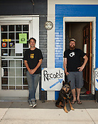 Indy Arts Award Winners: Chaz Martenstein, left, of Bull City Records, and Jason Jordan of Avid Video, Durham, NC, July 15, 2011.