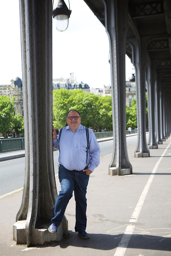 PARIS, France - June 5, 2017: Headshots of S&eacute;bastien Joncoux under the Bir-Hakeim bridge across the Seine.<br /> <br />  <br /> Credit: Clay Williams.<br /> <br /> &copy; Clay Williams / http://claywilliamsphoto.com