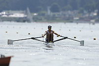 Poznan, POLAND.  2006, FISA, Rowing, World Cup,  GBR LM1X,  Tim  MALE, moves  away from  the  start, on the Malta  Lake. Regatta Course, Poznan, Thurs. 15.05.2006. © Peter Spurrier   .[Mandatory Credit Peter Spurrier/ Intersport Images] Rowing Course:Malta Rowing Course, Poznan, POLAND