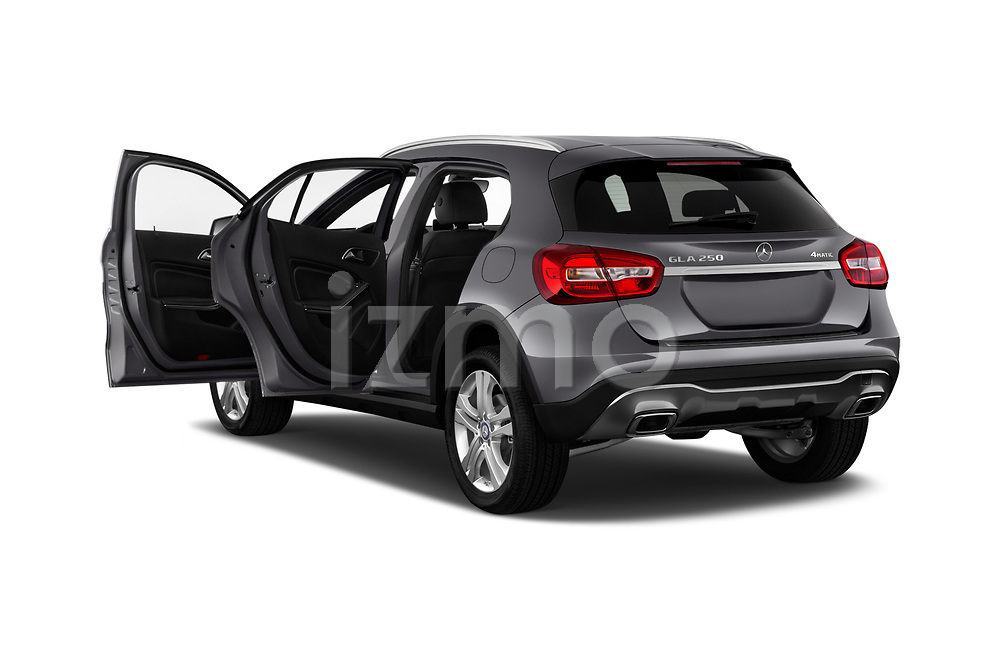 Car images close up view of a 2018 Mercedes Benz GLA GLA250 5 Door SUV doors