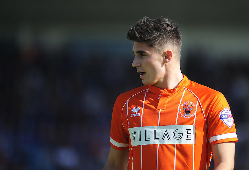 Blackpool's Henry Cameron in action during todays match  <br /> <br /> Photographer Kevin Barnes/CameraSport<br /> <br /> Football - The Football League Sky Bet League One - Gillingham v Blackpool - Saturday 12th September 2015 - MEMS Priestfield Stadium - Gillingham<br /> <br /> &copy; CameraSport - 43 Linden Ave. Countesthorpe. Leicester. England. LE8 5PG - Tel: +44 (0) 116 277 4147 - admin@camerasport.com - www.camerasport.com