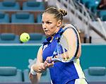 Karolina Pliskova (CZE) defeated Marketa Vondrousova (CZE) 6-3, 6-4