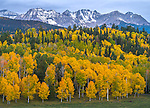 Uncompahgre National Forest, Colorado: Storm clouds the Sneffels range, autumn