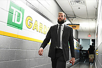 June 6, 2019: Boston Bruins right wing David Backes (42) makes his way to the locker room before game 5 of the NHL Stanley Cup Finals between the St Louis Blues and the Boston Bruins held at TD Garden, in Boston, Mass. Eric Canha/CSM