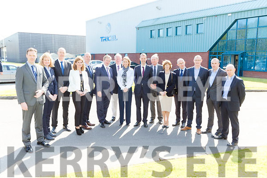 Taoiseach Enda Kenny with the management team of Killarney based business Tricel on Monday