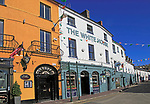 Historic colourful buildings, The White House pub, Kinsale, County Cork, Ireland, Irish Republic