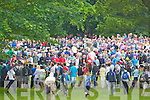 The large crowd watch Rory McIlroy putting on the 14th green at the Irish Open in Killarney on Friday