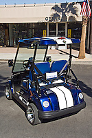Golf Cart Blue Shelby White Stripe, Custom, Classic, Unique,