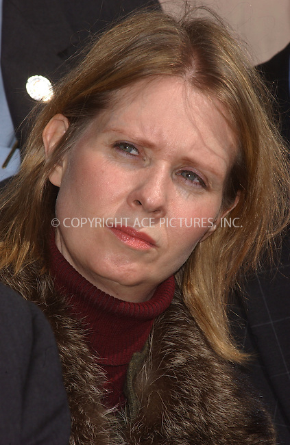 WWW.ACEPIXS.COM . . . . . ....March 23 2006, New York City......'Sex and the City' actress Cynthia Nixon, who's daughter attends a New York City Public School, launches 1-866-Kids-NYC Campaign to lobby senators for school funding.....Please byline: KRISTIN CALLAHAN - ACEPIXS.COM.. . . . . . ..Ace Pictures, Inc:  ..Philip Vaughan (212) 243-8787 or (646) 769 0430..e-mail: info@acepixs.com..web: http://www.acepixs.com
