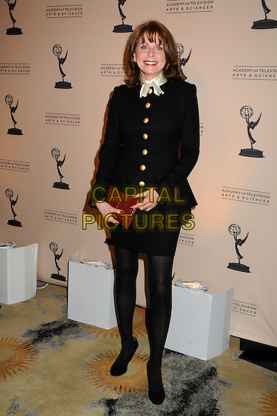 MARCIA STRASSMAN .Academy of Television Arts & Sciences' 20th Annual Hall of Fame Induction Gala held at the Beverly Hills Hotel, Beverly Hills, California, USA,.20th January 2011..full length black gold buttons white scarf tights red clutch bag .CAP/ADM/BP.©Byron Purvis/AdMedia/Capital Pictures.