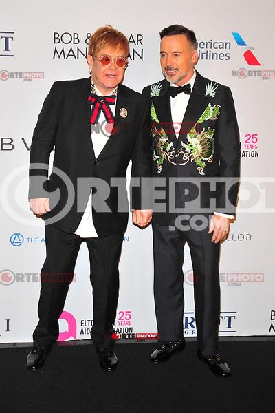 NEW YOKR, NY - NOVEMBER 7: Elton John and David Furnish at The Elton John AIDS Foundation's Annual Fall Gala at the Cathedral of St. John the Divine on November 7, 2017 in New York City. Credit:John Palmer/MediaPunch /NortePhoto.com