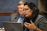 Nevada Assemblywoman Olivia Diaz, D-North Las Vegas, works in committee at the Legislative Building in Carson City, Nev., on Thursday, May 27, 2015. <br /> Photo by Cathleen Allison
