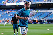 13th September 2017, Santiago Bernabeu, Madrid, Spain; UCL Champions League football, Real Madrid versus Apoel; Gareth Bale (11) Real Madrid during warm-up