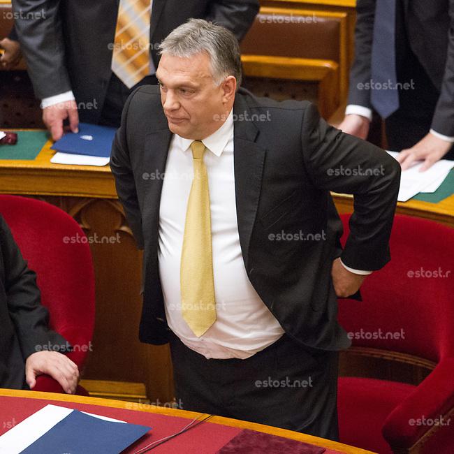 UNGARN, 10.05.2018, Budapest V. Bezirk. Eroeffnungssitzung des neuen Parlaments (4. Kabinett Orb&aacute;n). Fidesz-MP Viktor Orb&aacute;n. | Opening session of the new parliament (4th Orban cabinet). Fidesz PM Viktor Orban. <br /> &copy; Szilard Voros/estost.net