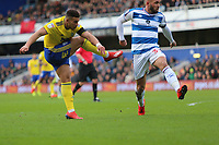 Che Adams of Birmingham City scores and celebrates his first goal during Queens Park Rangers vs Birmingham City, Sky Bet EFL Championship Football at Loftus Road Stadium on 9th February 2019