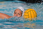 Manhattan Beach, CA 02/16/11 - Haley Kunert (C)  (Edison #5) in action during the 2011 first round CIF girls waterpolo playoffs between Edison and Mira Costa.