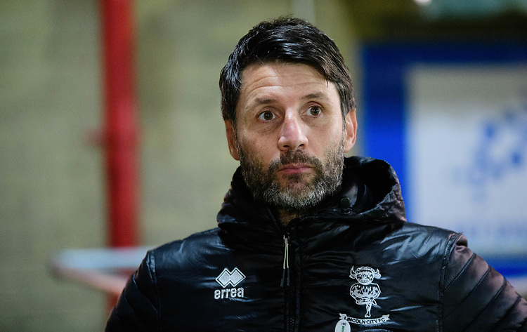 Lincoln City manager Danny Cowley<br /> <br /> Photographer Andrew Vaughan/CameraSport<br /> <br /> The EFL Checkatrade Trophy Second Round - Accrington Stanley v Lincoln City - Crown Ground - Accrington<br />  <br /> World Copyright &copy; 2018 CameraSport. All rights reserved. 43 Linden Ave. Countesthorpe. Leicester. England. LE8 5PG - Tel: +44 (0) 116 277 4147 - admin@camerasport.com - www.camerasport.com