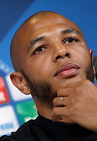 Porto's Yacine Brahimi attends a press conference ahead of the Champions League round of 16 second leg soccer match against Juventus, in Turin, 13 March 2017.<br /> UPDATE IMAGES PRESS/Isabella Bonotto