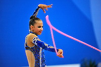 Daria Dmitrieva of Russia performs with rope at 2010 Pesaro World Cup on August 27, 2010 at Pesaro, Italy.  Photo by Tom Theobald.