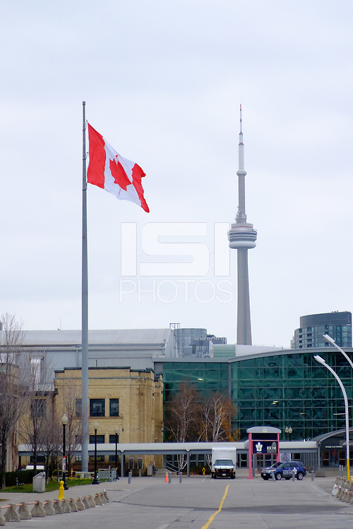 Toronto, ON, Canada - Thursday Dec. 08, 2016: CN Tower during a press conference prior to MLS Cup at BMO Field.