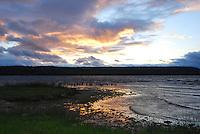 Wildlife at sunset in Ephraim Harbor, Door County, Wisconsin