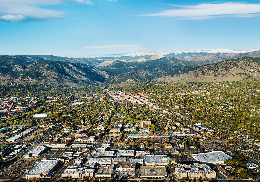 Boulder, Colorado seen from an aerial view on Saturday, October, 19, 2013.<br /> <br /> Photo by Matt Nager