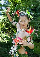 Zyra, League of Lengends cosplayed by Rea Dulcetta, Pax Prime 2015, Seattle, Washington State, WA, America, USA.