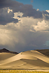 Passing summer thunderstorm over the dunes, Sand Mountain, Nevada, along U.S. 50