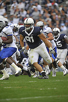 10 October 2009:  Penn State DT Jared Odrick (91)..The Penn State Nittany Lions defeated the Eastern Illinois Panthers 52-3 at Beaver Stadium in State College, PA..