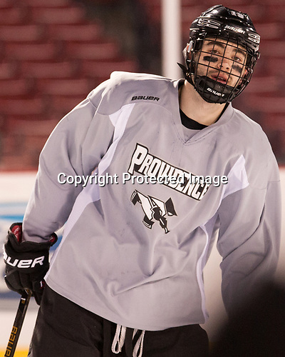 Jake Walman (PC - 19) - The Providence College Friars practiced on the rink at Fenway Park on Friday, January 6, 2017.
