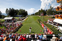 Oliver Fisher (ENG) on the 1st day of the Omega European Masters, Crans-Sur-Sierre, Crans Montana, Switzerland..Picture: Golffile/Fran Caffrey..
