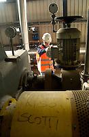 """L'azienda Riso Scotti, leader europeo nella produzione del riso, ha costruito, vicino al suo nuovo polo tecnologico alle porte di Pavia, una centrale elettrica che usa come combustibile la """"lolla"""" del riso (la pellicola che ricopre il grano del riso)..Italy, Pavia, Scotti's 'rice industry, european leader and its  power station working with rice bram."""
