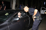 This occurred at 9:45p on Thursday, April 17, 2008.Adam Levine gets pulled over by police on Hollywood blvd., just a few hundred feet from the US Weekly Magazine party at Beso in Hollywood.. Adam was pulled over for not having a license plate on his new Aston Martin.. Adam actually had his plates with him, in the shipping envelope, which he shows.to the police.. The police let him go, with a verbal warning, no citation or fix it ticket was issue..www.AbilityFilms.com 805-427-3519 AbilityFilms@yahoo.com