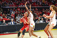 College Park, MD - March 23, 2019: Radford Highlanders forward Lydia Rivers (20) drives to the basket during game between Radford and Maryland at  Xfinity Center in College Park, MD.  (Photo by Elliott Brown/Media Images International)