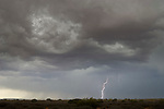 Lightning over the Jornada del Muerto, New Mexico