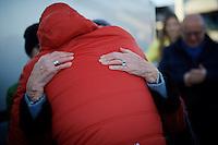 Jasper Stuyven (BEL/Trek Factory-Segafredo) gets a huge hug from his grandma after winning the 2016 Kuurne-Brussel-Kuurne