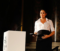 07 February 2019 - Meghan Markle Duchess of Sussex during the annual Endeavour Fund Awards at Draper's Hall in London. The Royal Foundation's Endeavour Fund Awards celebrate the achievements of wounded, injured and sick servicemen and women who have taken part in sporting and adventure challenges over the last year. Photo Credit: ALPR/AdMedia