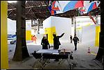 Torino. corso Castelfidardo. Marzo 2011. Le OGR (Officine Grandi Riparazioni), ribattezzate Officine Grandi Eventi, si preparano ai festeggiamenti per il 2011.