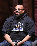 "James Monroe Iglehart from the 'Hamilton' cast during the Q&A before The Rockefeller Foundation and The Gilder Lehrman Institute of American History sponsored High School student #EduHam matinee performance of ""Hamilton"" at the Richard Rodgers Theatre on June 7, 2017 in New York City."