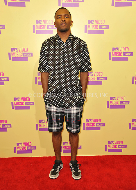WWW.ACEPIXS.COM....September 6, 2012, Los Angeles, CA.......Frank Ocean arriving at the 2012 MTV Video Awards at the Staples Center on September 6, 2012 in Los Angeles, California. ..........By Line: Peter West/ACE Pictures....ACE Pictures, Inc..Tel: 646 769 0430..Email: info@acepixs.com