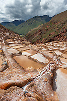 Salt mines of Mara, Peru, South America